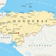 Постер, плакат: Honduras Political Map