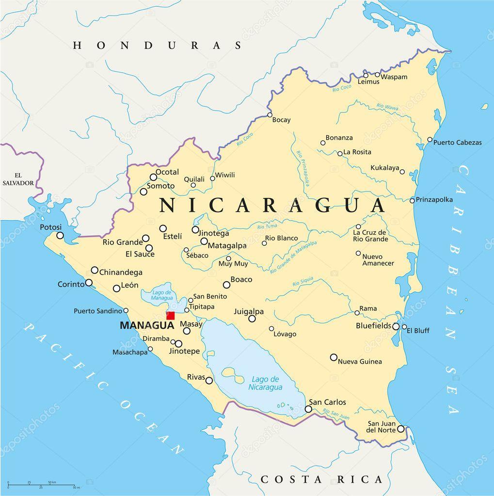 Nicaragua Capitals of Nicaragua With Capital