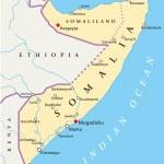 Постер, плакат: Somalia Political Map