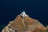 La iglesia de los siete mártires en la isla de sifnos, cyclades — Foto de Stock