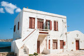 Old traditional greek house on mykonos island, Greece — Stockfoto
