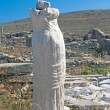 The ancient statue of Artemis in white marble on Delos island, G — Stock Photo
