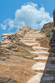 Steps of stones on the mountain, Sifnos, Greece — Stock Photo