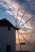 Traditional windmill on Mykonos island, Greece — Stock Photo