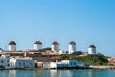 Beautiful windmill on Mykonos island, Greece — Stock Photo