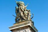Bronsstaty framför capitolioen, rom, italien — Stockfoto