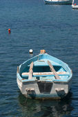 Traditional fishing boat on Milos island Greece — Stock Photo