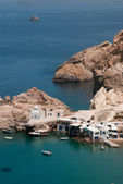 Traditional fishing village on Milos island, Greece — Stock Photo