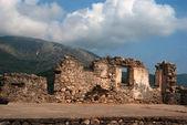 Ali paşa kalenin yakınında parga, yunanistan için giriş — Stok fotoğraf
