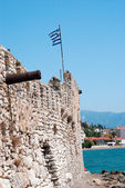 Outer Castle wall in Nafpaktos central Greece — Stock Photo