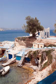 Traditional fishing village on Milos island, Greece — Stok fotoğraf