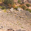 Temple of Apollo and the theater at Delphi oracle archaeological — Stock Photo
