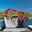 Stock Photo: Car ferry boat in Greece linking islands to mainland