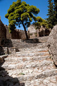 Famous castle of Templar knights at Nafpctos in Greece — Stock Photo