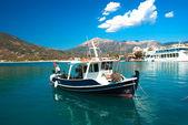 Traditional fishing boat on Lefkada  island  Greece — Stock Photo