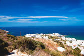 Panoramic view of traditional village on Naxos island, Greece — Stock Photo