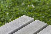 Picnic table close-up — Stock Photo