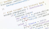 Generic javascript code of web page — Stock Photo
