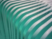 Glass shelf with rounded corners — Stock Photo