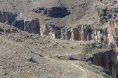 Sheeps and goats grazing on Ihlara canyon, Turkey — Stock Photo