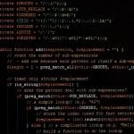 コンピューターのモニター上の web ページ一般的な javascript コード — ストック写真
