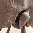Traditional Clay Pots on stone steps — Stock Photo