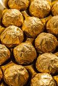 Luxury chocolate balls in box — Stock Photo