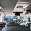 Empty bus interior — Stock Photo
