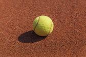 Tennis ball macro — Stock Photo