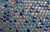 Glaskugeln in einer betonwand — Stockfoto