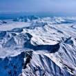 Stock Photo: River of Snow and Ice Flowing to Sea, Denali, Alaska.