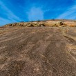 Stock Photo: Climb to Top. Challenges to Overcome. Climb Up Enchanted Rock, Texas.