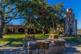 Full View of the Historic Old West Spanish Mission Espada, 1690, Texas. — Stock Photo