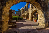 Arch View of the Historic Old West Spanish Mission San Jose, Texas. — Stock Photo