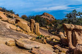A View of the Amazing Granite Stone Slabs and Boulders of Legendary Enchanted Rock, Texas. — Stock Photo