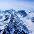 Aerial View of Rugged Alaskan Mountains in Denali National Park, Alaska. — Stock Photo