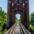 Old Iconic Railroad Truss Bridge. — Stock Photo