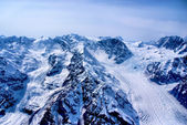 Aerial View of Rugged Alaskan Mountains in Denali National Park, Alaska. — Stock fotografie