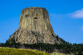 The Amazing Rock Outcrop or Laccolith Called Devil's Tower, Wyoming, USA. — Stock Photo