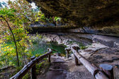 Entrance to Hamilton Pool Sink Hole in the Texas Hill Country in Late Fall. — Stock Photo