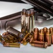 Concept Shot for Concealed Handgun, Ammo, Ammunition, Rights, Target Shooting, and the Gun Industry. — Stock Photo #31047377