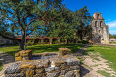 The Rustic and Historic Old West Spanish Mission Espada, established in 1690, San Antonio, Texas — Stock Photo
