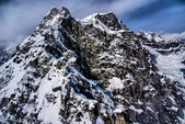 Aerial View of a Rugged Mountain Peak inThe Great Alaskan Wilderness, Denali National Park, Alaska. — Stock Photo