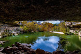 Hamilton Pool, Texas, in the Fall. Very Unusual Sinkhole Turned into a Natural Texas Swimming Hole. — Stock Photo
