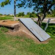 Stock Photo: Old Storm Cellar or Tornado Shelter in Rural Oklahoma.