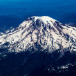 Aerial View of Snow Capped Mount Rainier — Stock Photo