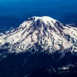 Stock Photo: Aerial View of Snow Capped Mount Rainier