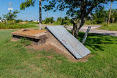 An Old Storm Cellar or Tornado Shelter in Rural Oklahoma. — Stock Photo