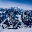 Aerial View of The Great Alaskan Wilderness, Denali National Park, Alaska. — Stock Photo