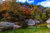 A Picturesque Scene with Beautiful Fall Foliage on a Tranquil Babbling Brook — Stock Photo